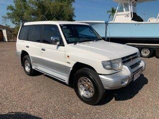 1999 Mitsubishi Pajero GLS White 4 Speed Auto Active Select Wagon.
