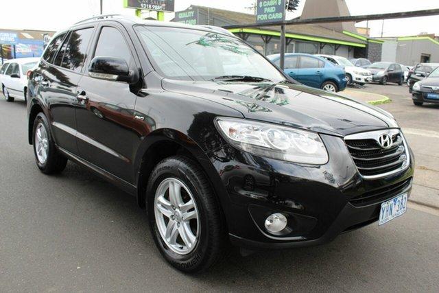 Used Hyundai Santa Fe CM MY11 Elite West Footscray, 2011 Hyundai Santa Fe CM MY11 Elite Black 6 Speed Sports Automatic Wagon