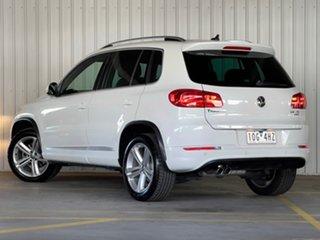 2014 Volkswagen Tiguan 5N MY15 155TSI DSG 4MOTION R-Line White 7 Speed Sports Automatic Dual Clutch.