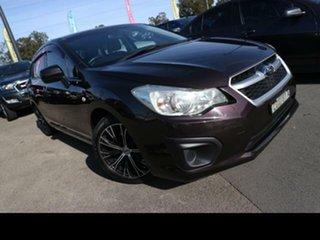 2012 Subaru Impreza MY13 2.0I (AWD) Plum Continuous Variable Sedan.