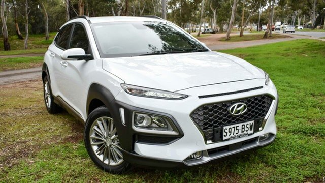 Used Hyundai Kona OS MY18 Elite 2WD Ingle Farm, 2017 Hyundai Kona OS MY18 Elite 2WD White 6 Speed Sports Automatic Wagon