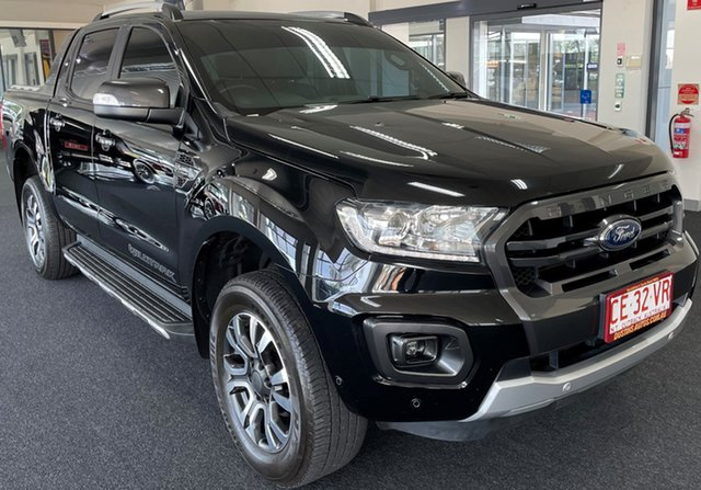 Used Ford Ranger PX MkIII 2020.25MY Wildtrak Winnellie, 2019 Ford Ranger PX MkIII 2020.25MY Wildtrak Black 10 Speed Sports Automatic Double Cab Pick Up