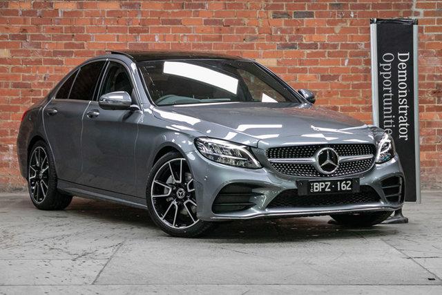 Demonstrator Mercedes-Benz C-Class W205 801MY C300 9G-Tronic Mulgrave, 2021 Mercedes-Benz C-Class W205 801MY C300 9G-Tronic Selenite Grey 9 Speed Sports Automatic Sedan