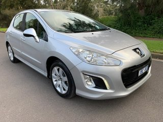2013 Peugeot 308 T7 Style Silver Sports Automatic Hatchback.