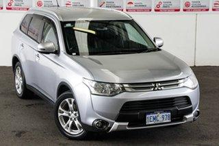 2014 Mitsubishi Outlander ZJ MY14 LS (4x2) Silver Continuous Variable Wagon.