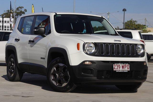 Used Jeep Renegade BU MY16 Sport DDCT Aspley, 2016 Jeep Renegade BU MY16 Sport DDCT White 6 Speed Sports Automatic Dual Clutch Hatchback