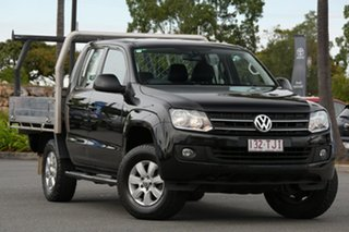 2013 Volkswagen Amarok 2H MY13 TDI420 4Motion Perm Trendline Black 8 Speed Automatic Cab Chassis.