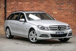 2011 Mercedes-Benz C-Class W204 MY11 C200 BlueEFFICIENCY Estate 7G-Tronic + Iridium Silver 7 Speed.