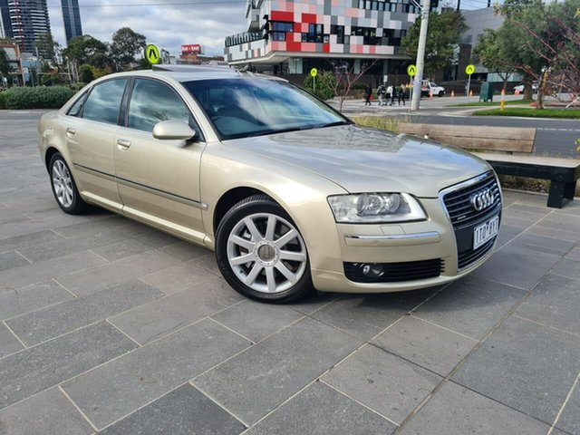 Used Audi A8 D3 MY2006 L Quattro South Melbourne, 2005 Audi A8 D3 MY2006 L Quattro Gold 6 Speed Sports Automatic Sedan