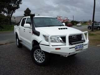 2011 Toyota Hilux KUN26R MY11 Upgrade SR (4x4) White 5 Speed Manual Dual Cab Chassis.