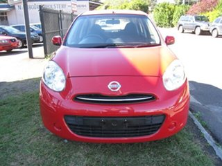 2012 Nissan Micra K13 Upgrade ST Red 4 Speed Automatic Hatchback.