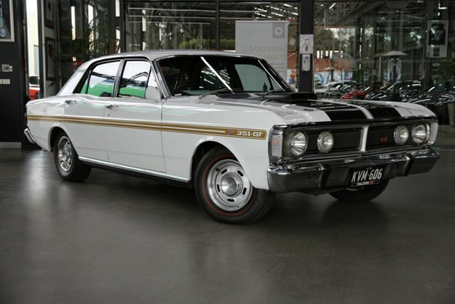 Used Ford Falcon XY GT North Melbourne, 1971 Ford Falcon XY GT White 3 Speed Automatic Sedan