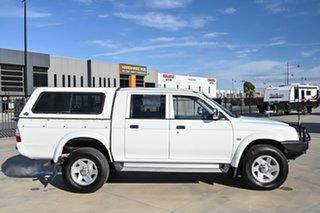 2005 Mitsubishi Triton MK MY06 GLX-R Double Cab White 4 Speed Automatic Utility