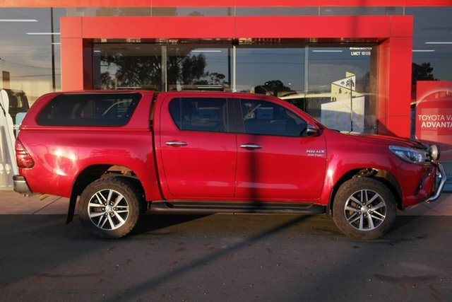 Pre-Owned Toyota Hilux GUN126R SR5 Double Cab Swan Hill, 2016 Toyota Hilux GUN126R SR5 Double Cab Red 6 Speed Sports Automatic Utility