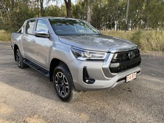 2021 Toyota Hilux GUN126R SR5 Double Cab Silver Sky 6 Speed Sports Automatic Utility.