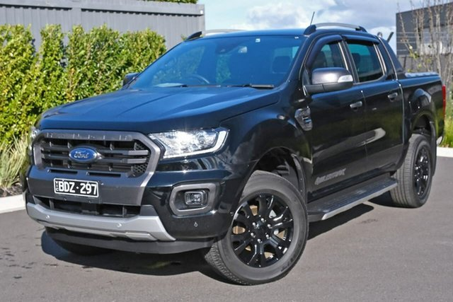 Used Ford Ranger PX MkIII 2019.00MY Wildtrak Essendon Fields, 2019 Ford Ranger PX MkIII 2019.00MY Wildtrak Black 10 Speed Sports Automatic Double Cab Pick Up