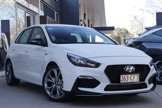 2021 Hyundai i30 PD.V4 MY21 N Line D-CT Polar White 7 Speed Sports Automatic Dual Clutch Hatchback.