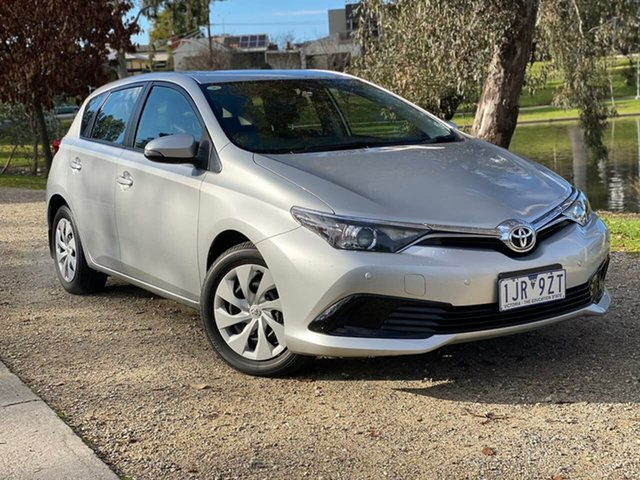 Used Toyota Corolla ZRE182R Ascent S-CVT Wodonga, 2017 Toyota Corolla ZRE182R Ascent S-CVT Silver 7 Speed Constant Variable Hatchback