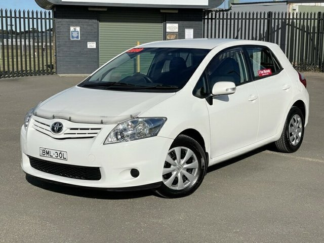 Used Toyota Corolla ZRE152R MY10 Ascent Newcastle, 2010 Toyota Corolla ZRE152R MY10 Ascent White 4 Speed Automatic Hatchback