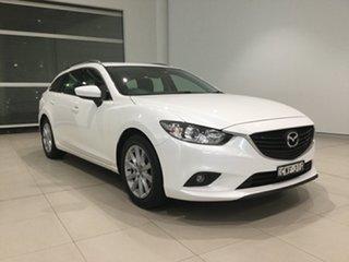 2014 Mazda 6 GJ1031 MY14 Sport SKYACTIV-Drive Snowflake White 6 Speed Sports Automatic Wagon.