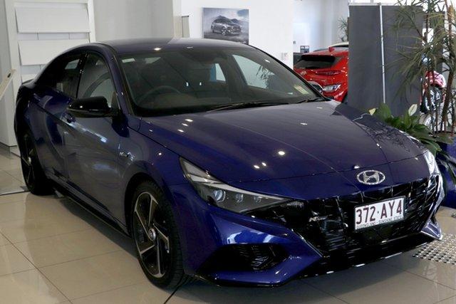 Demo Hyundai i30 CN7.V1 MY21 N Line D-CT Premium Toowoomba, 2020 Hyundai i30 CN7.V1 MY21 N Line D-CT Premium Intense Blue 7 Speed Sports Automatic Dual Clutch