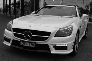 2012 Mercedes-Benz SLK-Class R172 SLK55 AMG SPEEDSHIFT PLUS White 7 Speed Sports Automatic Roadster.