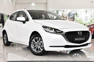 2021 Mazda 2 DJ2HA6 G15 SKYACTIV-MT Pure White 6 Speed Manual Hatchback.