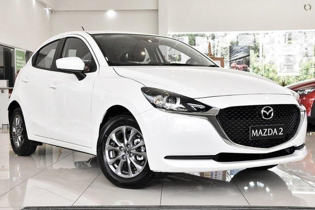 New Mazda 2 DJ2HA6 G15 SKYACTIV-MT Pure Waitara, 2021 Mazda 2 DJ2HA6 G15 SKYACTIV-MT Pure White 6 Speed Manual Hatchback