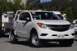 2013 Mazda BT-50 UP0YF1 XT White 6 speed Manual Utility.