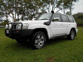 2005 Nissan Patrol GU IV ST (4x4) White 5 Speed Manual Wagon.