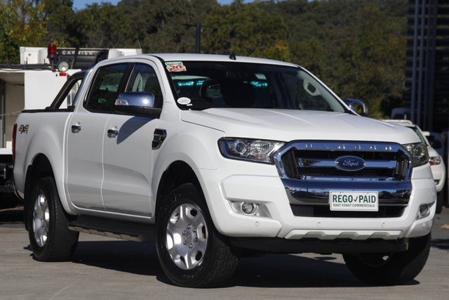 Used Ford Ranger PX MkII XLT Double Cab Robina, 2017 Ford Ranger PX MkII XLT Double Cab White 6 speed Automatic Utility