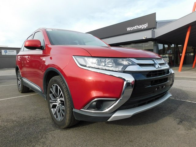 Pre-Owned Mitsubishi Outlander ZL MY18.5 ES AWD Wonthaggi, 2018 Mitsubishi Outlander ZL MY18.5 ES AWD Red 6 Speed Constant Variable Wagon