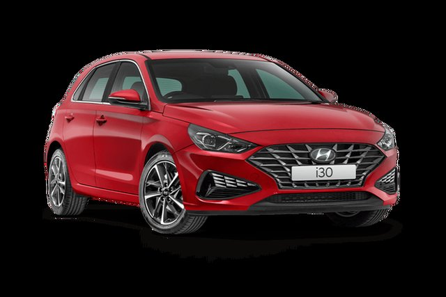 New Hyundai i30 PD.V4 MY21 Elite Cardiff, 2021 Hyundai i30 PD.V4 MY21 Elite Fiery Red 6 Speed Sports Automatic Hatchback