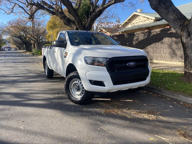 Pre-Owned Ford Ranger PX MkII XL Hi-Rider Hawthorn, 2016 Ford Ranger PX MkII XL Hi-Rider White 6 Speed Sports Automatic Cab Chassis