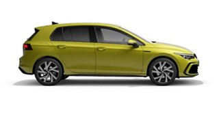2021 Volkswagen Golf 8 MY21 110TSI R-Line Pomelo Yellow 8 Speed Sports Automatic Hatchback