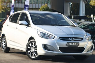 2016 Hyundai Accent RB4 MY16 Active Silver 6 Speed CVT Auto Sequential Sedan.