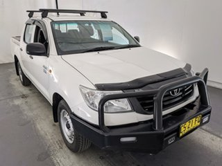 2013 Toyota Hilux TGN16R MY12 Workmate Double Cab 4x2 White 4 Speed Automatic Utility.