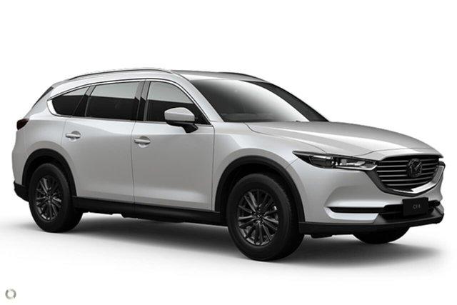 New Mazda CX-8 KG2WLA Sport SKYACTIV-Drive FWD Waitara, 2021 Mazda CX-8 KG2WLA Sport SKYACTIV-Drive FWD White 6 Speed Sports Automatic Wagon