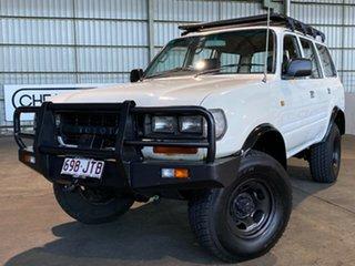 1990 Toyota Landcruiser HZJ80R Standard White 5 Speed Manual Wagon.