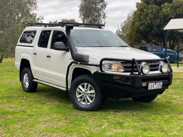 Used Volkswagen Amarok 2H MY15 TDI420 4MOTION Perm Core Wodonga, 2015 Volkswagen Amarok 2H MY15 TDI420 4MOTION Perm Core White 8 Speed Automatic Utility