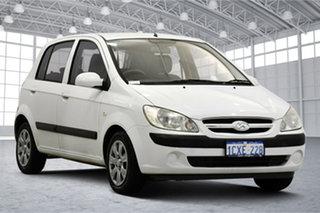 2008 Hyundai Getz TB MY07 S Noble White 5 Speed Manual Hatchback.