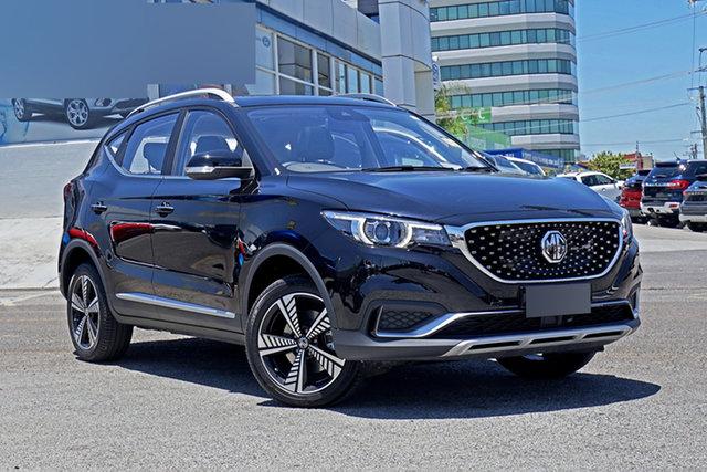 New MG ZS EV AZS1 MY21 Essence Springwood, 2020 MG ZS EV AZS1 MY21 Essence Black 1 Speed Reduction Gear Wagon