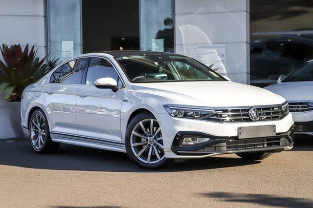 New Volkswagen Passat 3C (B8) MY21 162TSI DSG Elegance Sutherland, 2021 Volkswagen Passat 3C (B8) MY21 162TSI DSG Elegance Pure White 6 Speed