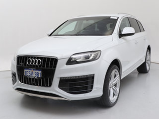 2015 Audi Q7 MY15 3.0 TDI Quattro White 8 Speed Automatic Tiptronic Wagon.