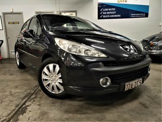 2007 Peugeot 207 A7 XE Black 4 Speed Sports Automatic Hatchback.
