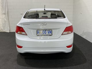 2017 Hyundai Accent RB4 MY17 Active Crystal White 6 Speed Constant Variable Sedan