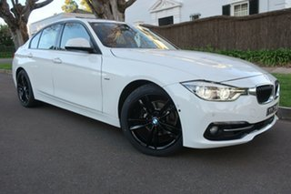 2016 BMW 3 Series F30 LCI 320i Sport Line White 8 Speed Sports Automatic Sedan.