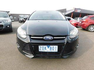 2012 Ford Focus LW Titanium PwrShift Black 6 Speed Sports Automatic Dual Clutch Hatchback.
