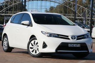 2013 Toyota Corolla ZRE182R Ascent White 6 Speed Manual Hatchback.