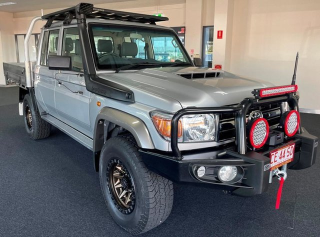 Used Toyota Landcruiser VDJ79R GXL Double Cab Winnellie, 2018 Toyota Landcruiser VDJ79R GXL Double Cab Silver 5 Speed Manual Cab Chassis
